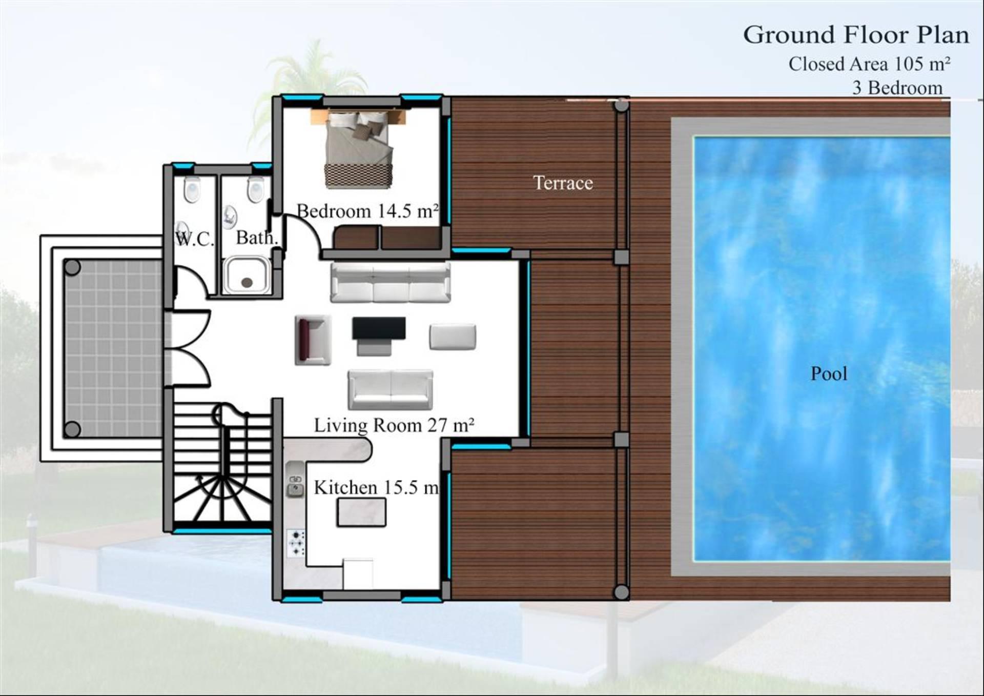 Ground foor plan